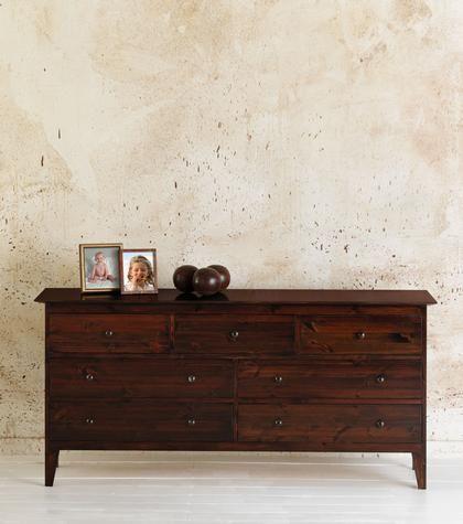 Best Bedroom Furniture Long Chests Shaker 7 Drawer Long 400 x 300