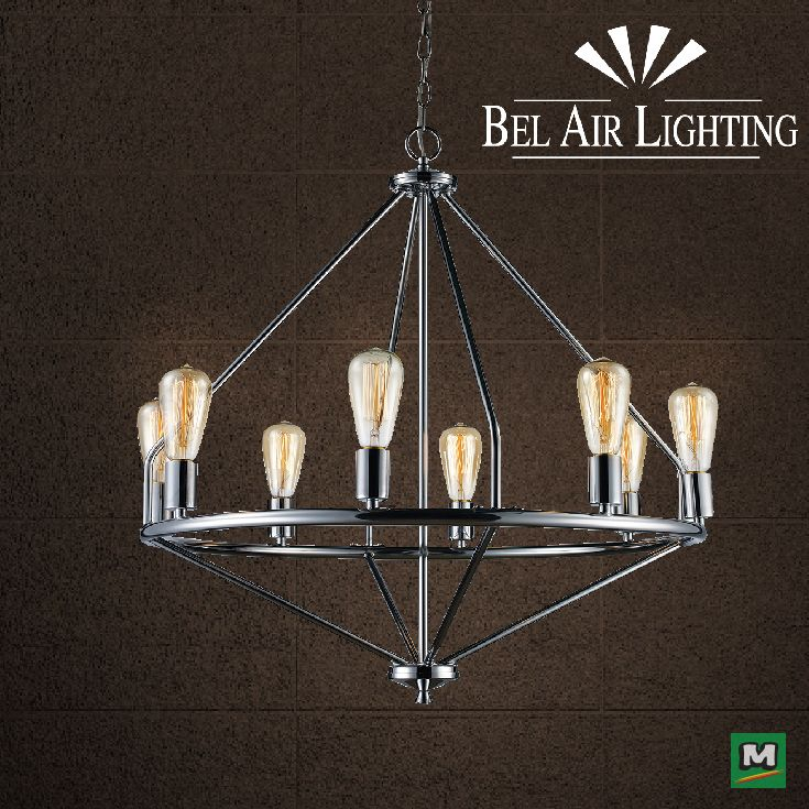 This 8 Light Asta Chandelier Has An Immaculate Polished Chrome