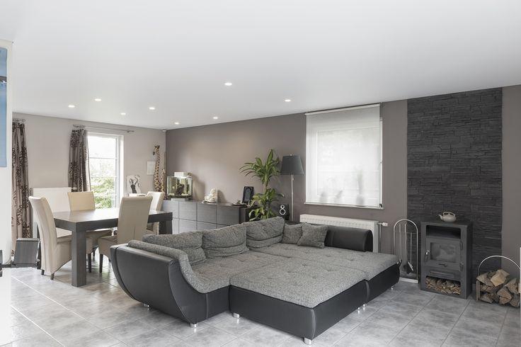 Livingroom Extenzo spanplafond Stretch ceiling Wohnzimmer und - abgehängte decke wohnzimmer