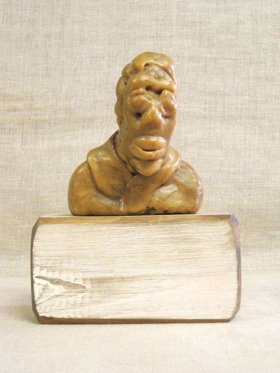 Male Bust , Wax Sculpture , Encuastic , Wax , Male Figure , Made of Wax , Handmade , Lost Wax , Wax Mold , Male , Bust , Sculpture , Art