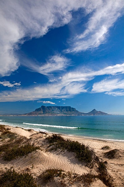 Table Mountain, Cape Town - South Africa. Table Mountain is believed to be one of the oldest mountains in the world