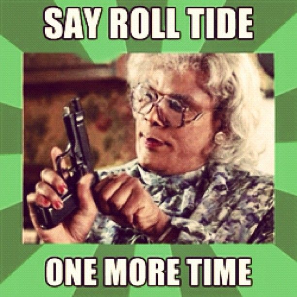 Bahahaha! Oh my goodness....this is too funny!  When I read this, I totally read it with Madea's voice in my head!