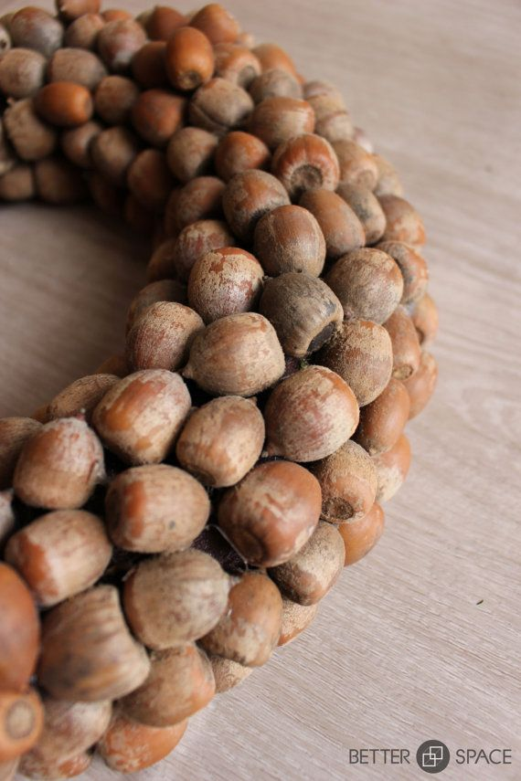 ACORN WREATH. Natural Wreath. Fall wreath. Winter by BetterSpacePl