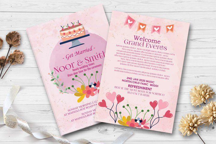 Double Sided Elegant Wedding Invites 533425 Card Making Design Bundles In 2021 Elegant Wedding Invitations Wedding Invitation Cards Wedding Invitations