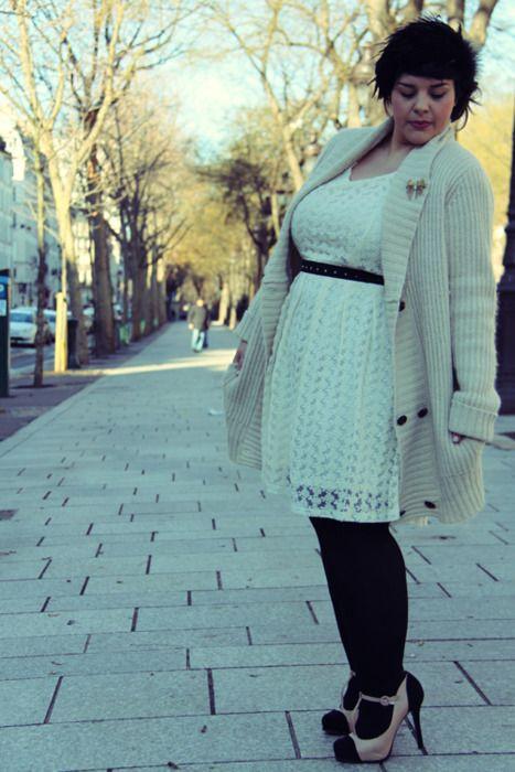 Stê: Dresses Black, Fashion Models, Long Sweaters, Plus Size Fashion, Off White Dresses, The Dresses, Big Girls, Blog Mode, Curvy Girls Dresses