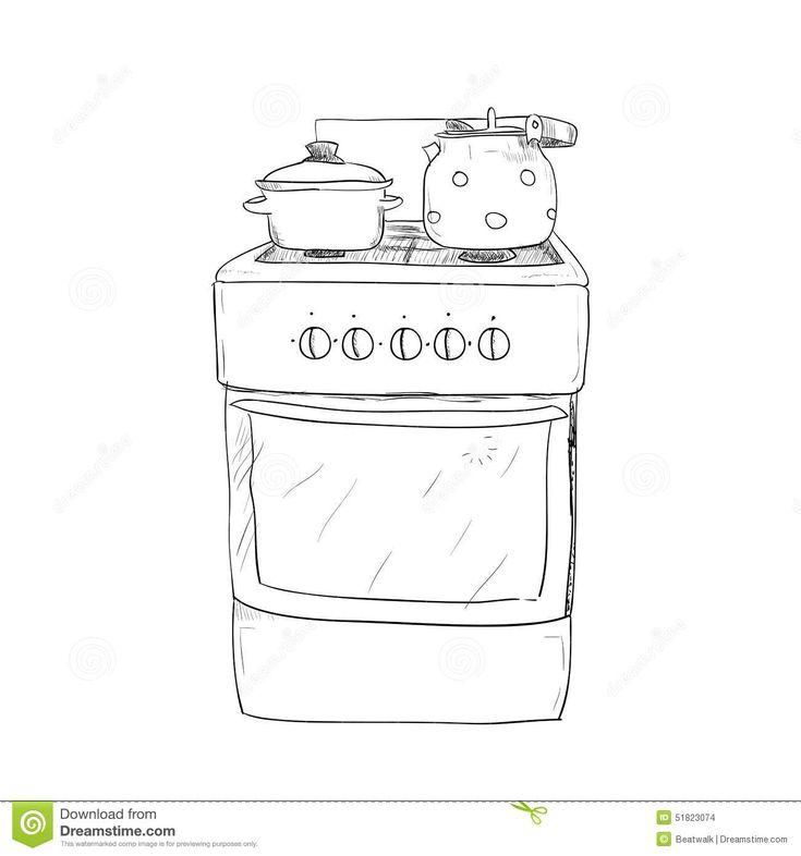 https://thumbs.dreamstime.com/z/hand-drawn-sketch-kitchen-stove-kettle-pan-51823074.jpg