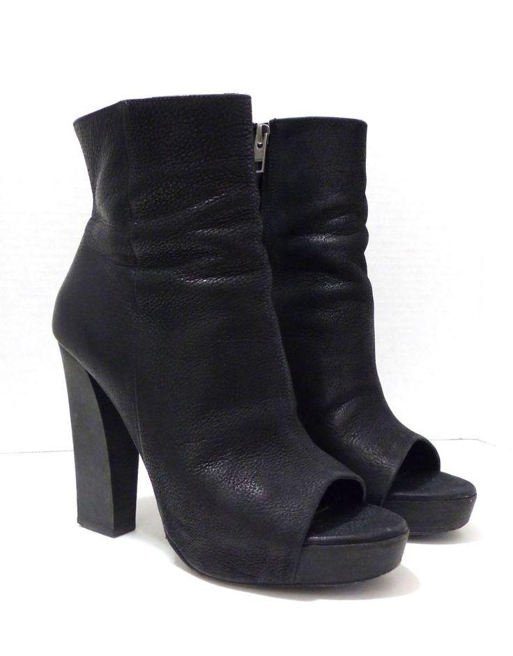 All Saints Spitalfields Black Heel Manifest Open Toe Ankle Boots 38EU 7US $340 #Allsaints #AnkleBoots