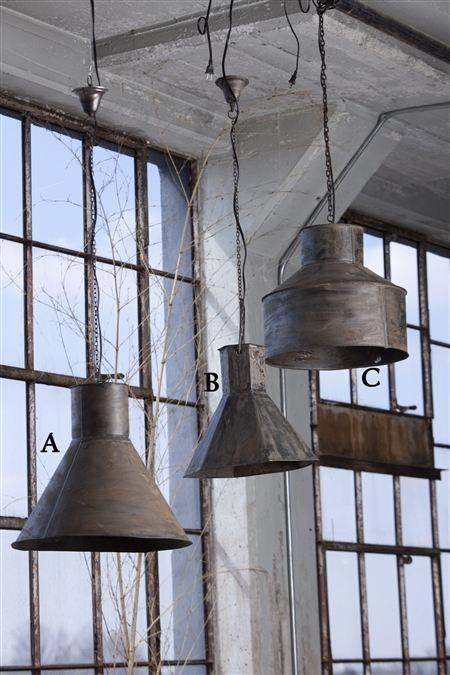 Vintage Metal Hanging Steel Funnel Lamps Love Love Love Vintage Repurposed Reproduction