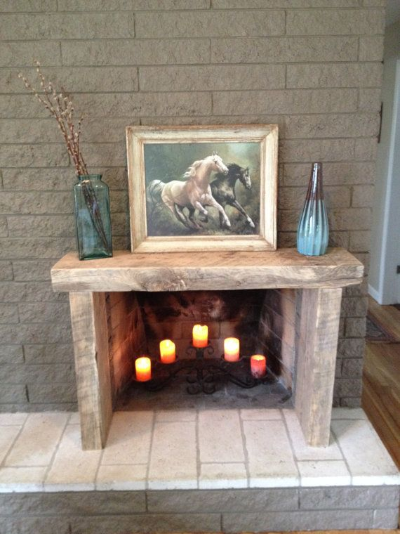 Reclaimed Solid Wood Mantle Fireplace Surround On Etsy Reclaim To Fame 39 S Driftwood