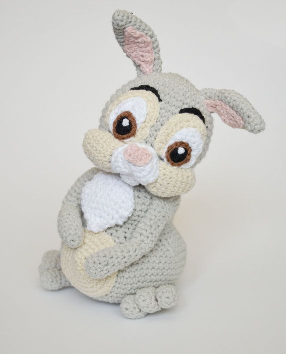 "Crochet PATTERN  Easter Thumper rabbit by Krawka by Krawka on Etsy; 6 1/2"" tall"