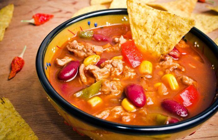 slow cooker crockpot taco soup
