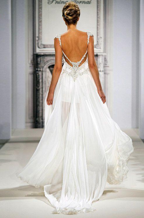 Very pretty, but very #sheer #weddinggown by Pnina Tornai would be complete with a #luxxieboston.   <>  @kimludcom   <>   www.kimlud.com