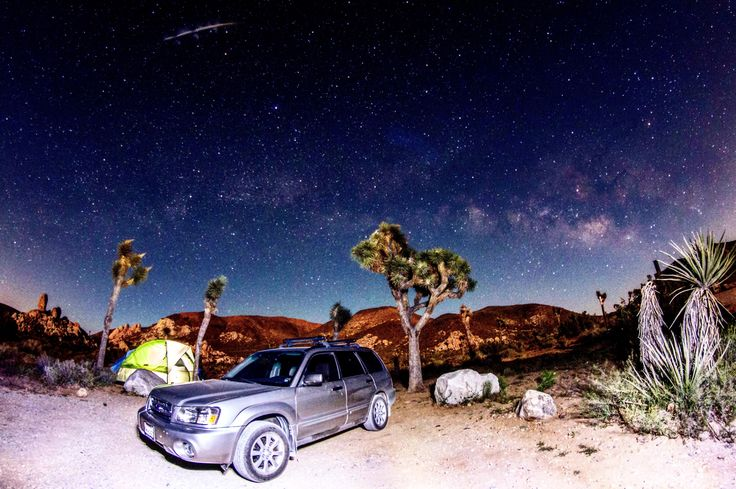 Joshua Tree @ 3:22am. Camp Mode. #subaru #wrx #sti #impreza #forester #subie