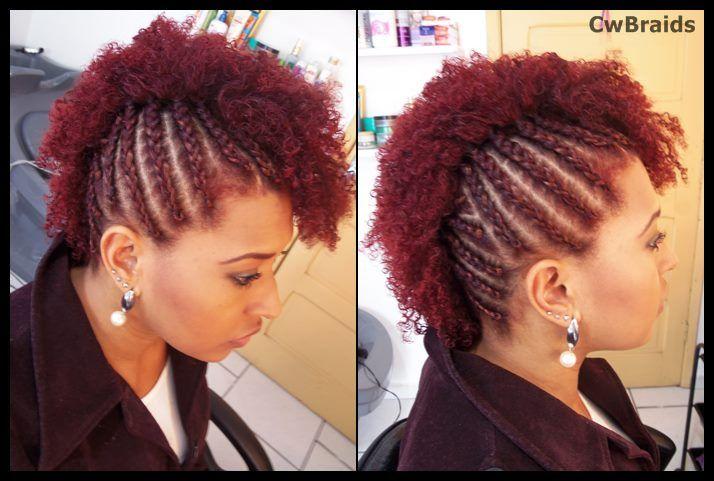 Red Mohawk  Cliente : Moara  #afrored #afrohair #mohawk #cornrows #redhair #trança #nagô #trançaraiz