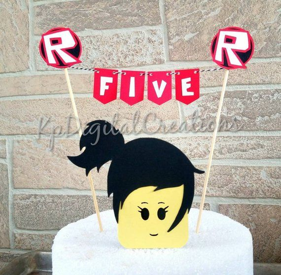 Roblox Girl Cake Topper Roblox Party Supplies Roblox Girl