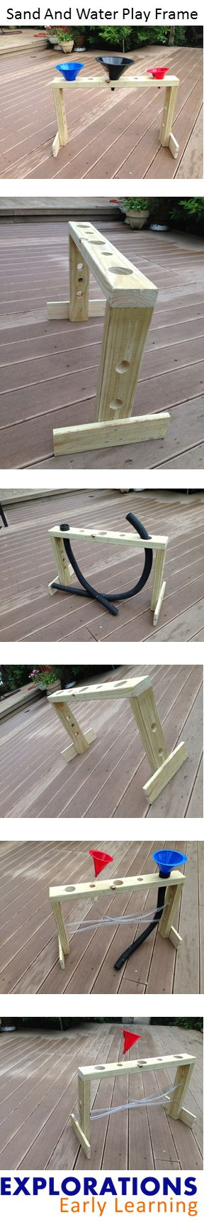A simple DIY play frame that will add fun to sand and water play...
