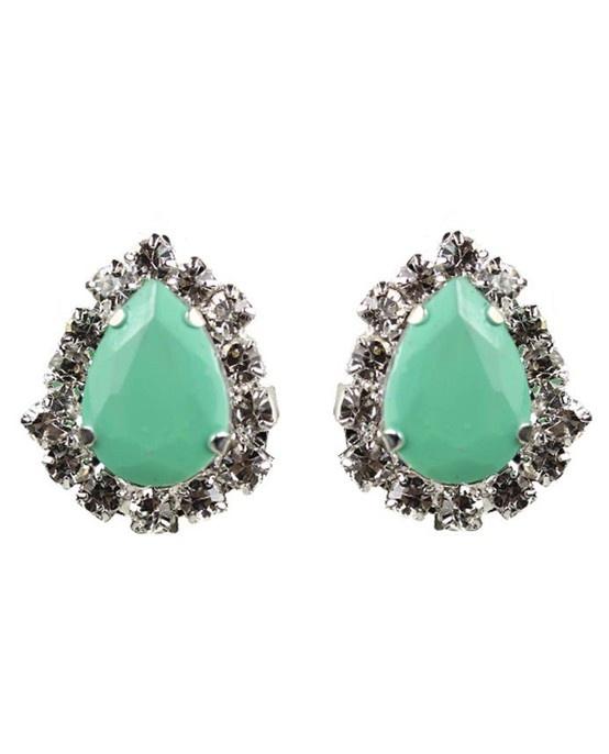 Mint Teardrop Earrings