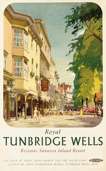 Royal Tunbridge Wells Poster Advertising British Railway