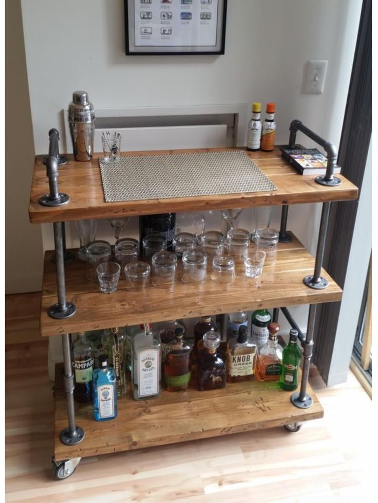 DIY industrial bar cart!