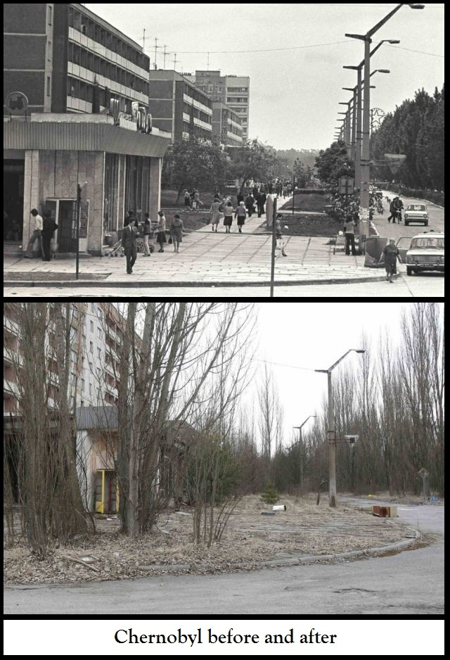 #Chernobyl #Russia #nuclear Before and after | ☢ Chernobyl ...