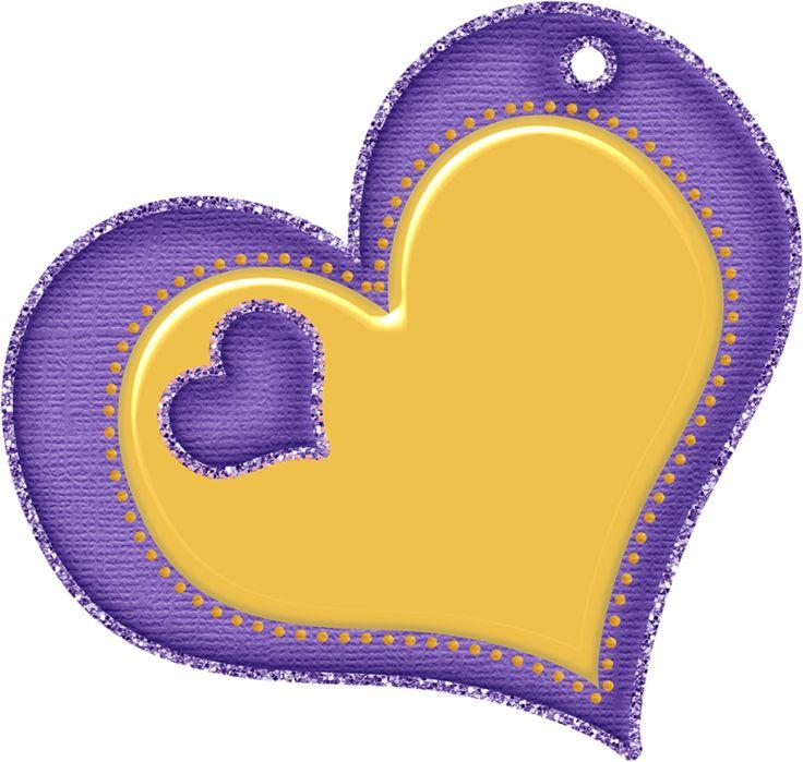 Открытка сердечко фиолетовое