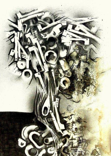 Sequenza (Frame) La decadenza della forma frana frammenti quasi d'albero del bene e del male. Forse. Il bianco e nero della chiave apre la voragine che dietro la porta attende fiduciosa l&#82…