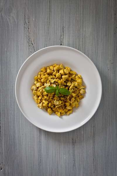 tofu strapazzato ricetta - scrambled tofu recipe