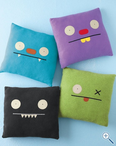 ugly doll pillows   so easy to make