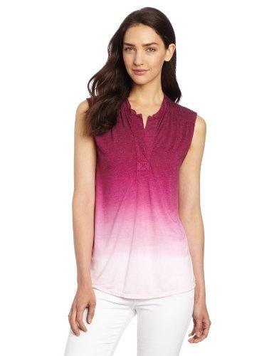 Calvin Klein Jeans Women's Dip Dye Shoulder Henley Top, Purple Current, Medium Calvin Klein Jeans,http://www.amazon.com/dp/B00AHFJG6W/ref=cm_sw_r_pi_dp_edvUrb6822F04295
