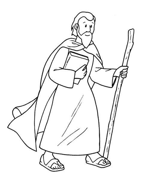 paul the apostle coloring pages - photo#7
