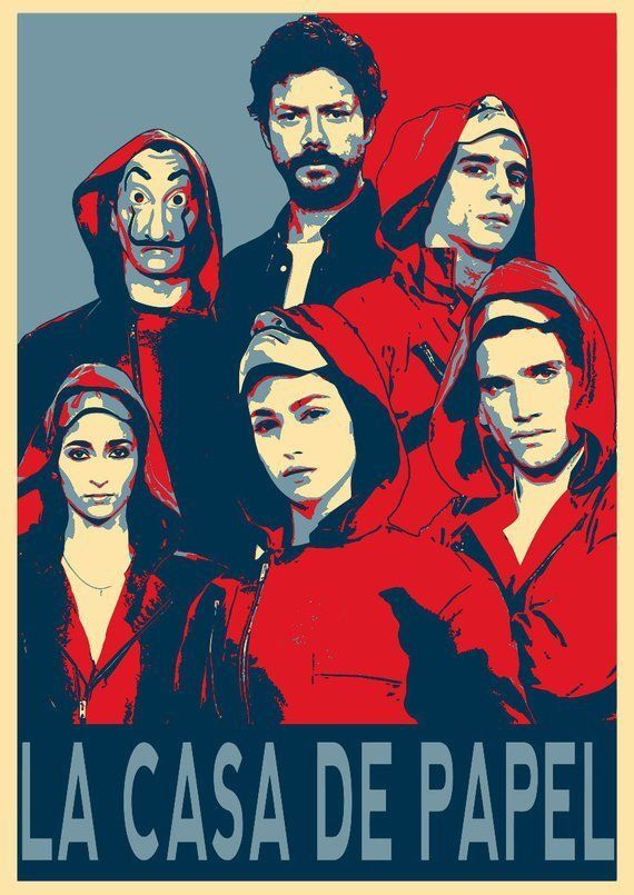 Pin By Natalka Kovalska On La Casa De Papel Hope Poster Wallpaper All Poster