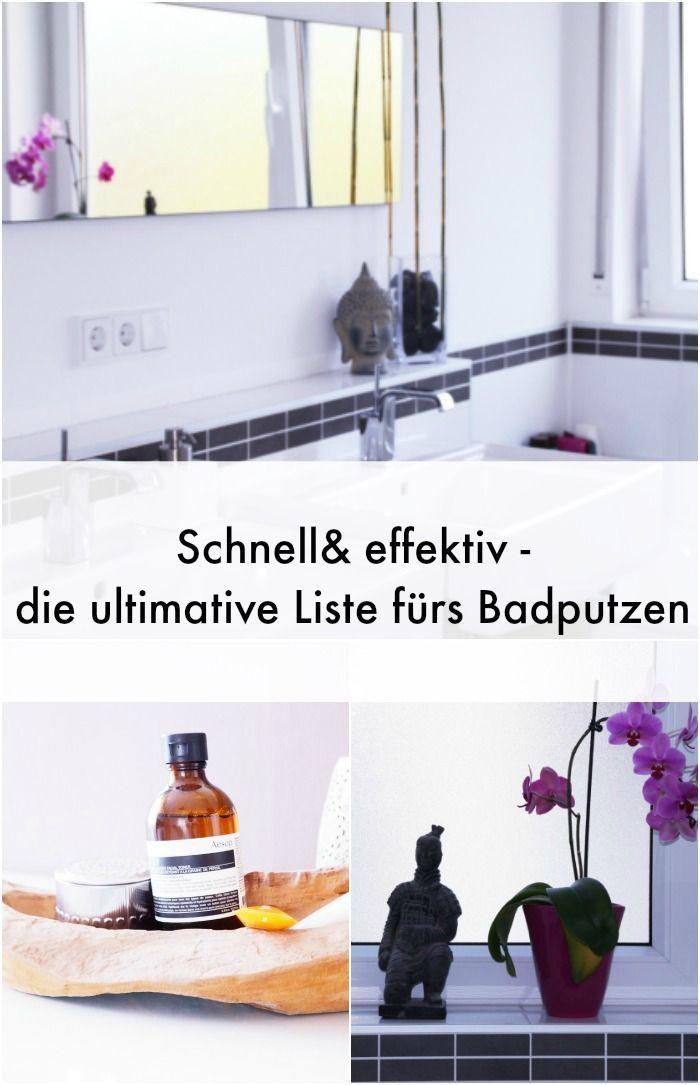 Frühjahrsputz oder regelmäßiges Saubermachen - dies ist die perfekte ToDo-Liste für das Bad zum Putzen.