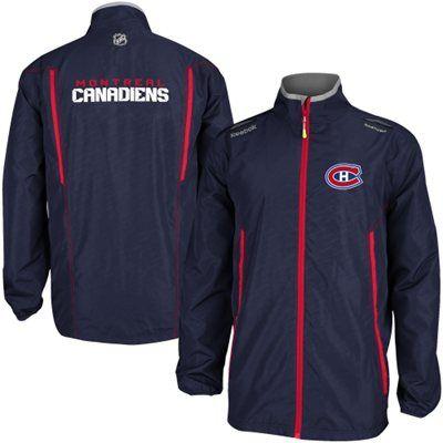 Mens Montreal Canadiens Reebok Navy Blue 2014 Center Ice Rink Jacket