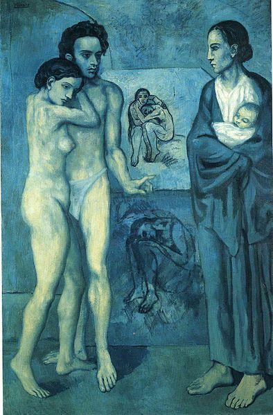 Pablo Picasso Blue Period Painting La Vie, 1903