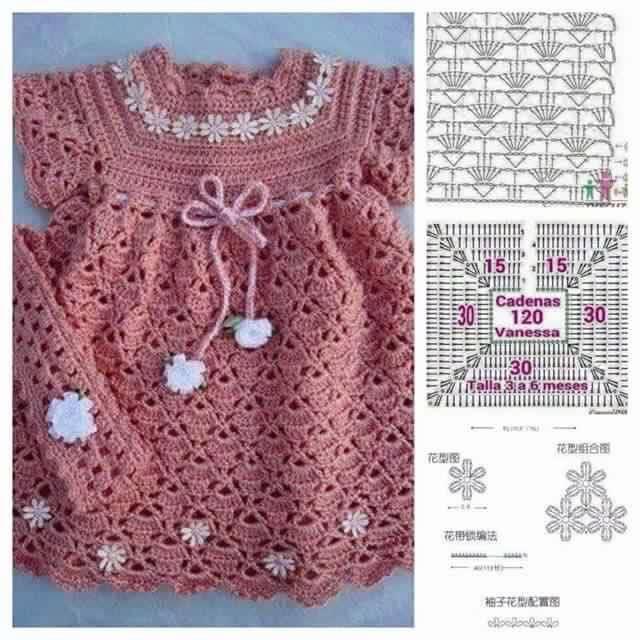vestidos-bebe-niña-crochet-5.jpg (640×640)