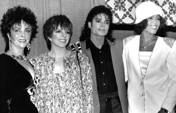 Elizabeth Taylor, Liza Minelli, Michael Jackson, and Whitney Houston: | The 45 Most Legendary Pictures Ever Taken