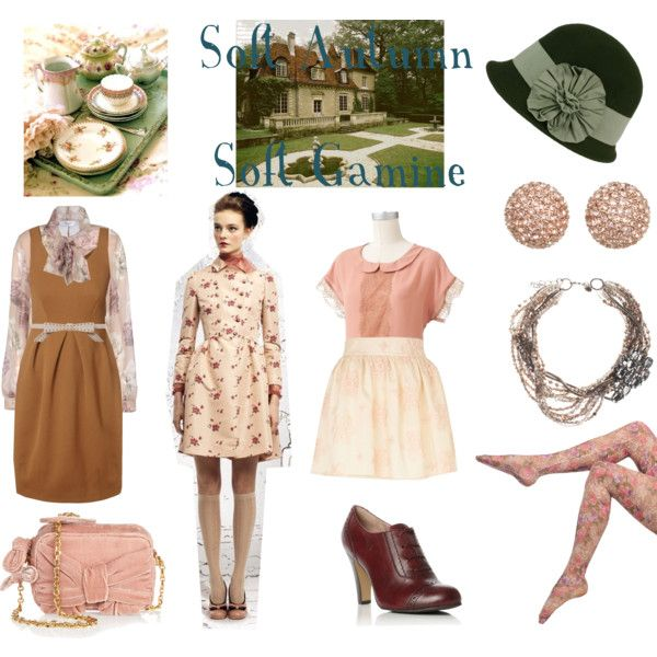 """Soft Autumn Soft Gamine"" by thewildpapillon on Polyvore"