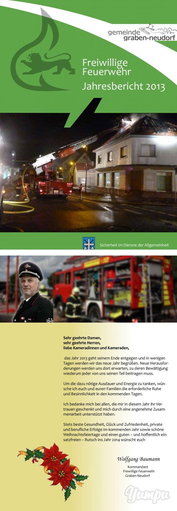 Freiwillige Feuerwehr Jahresbericht 2013 - Feuerwehr Graben ... - Magazine with…