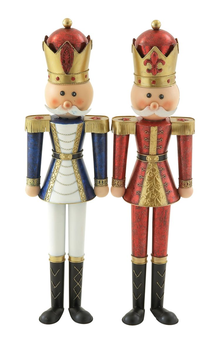 Impressively styled metal nutcracker assorted