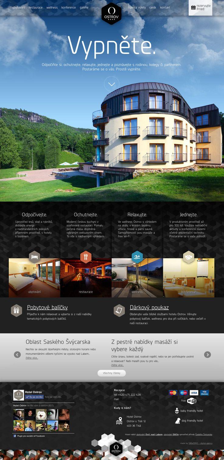 www.hotelostrov.com #webdesign #ux #hotel