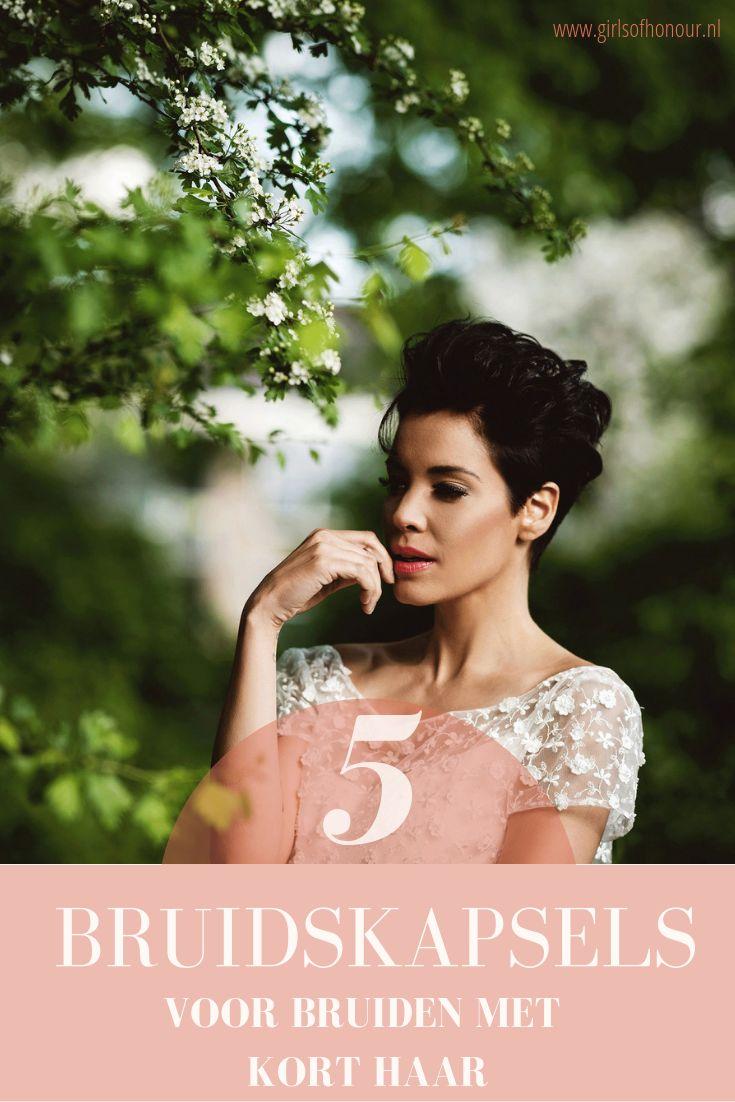 Inspiratie 5 Keer Bruidskapsels Voor Bruiden Met Kort Haar Kapsel Voor Bruid Bruidskapsel Kort Haar