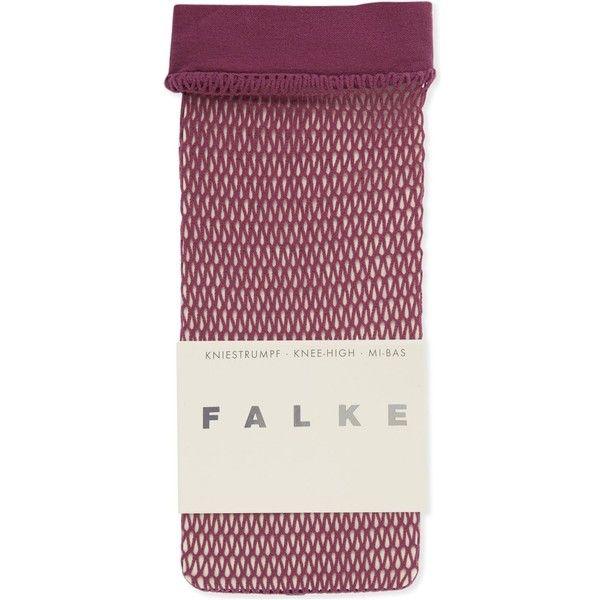Falke Fishnet knee-high socks (€13) ❤ liked on Polyvore featuring intimates, hosiery, socks, falke socks, falke, knee hi socks, falke hosiery and fishnet hosiery