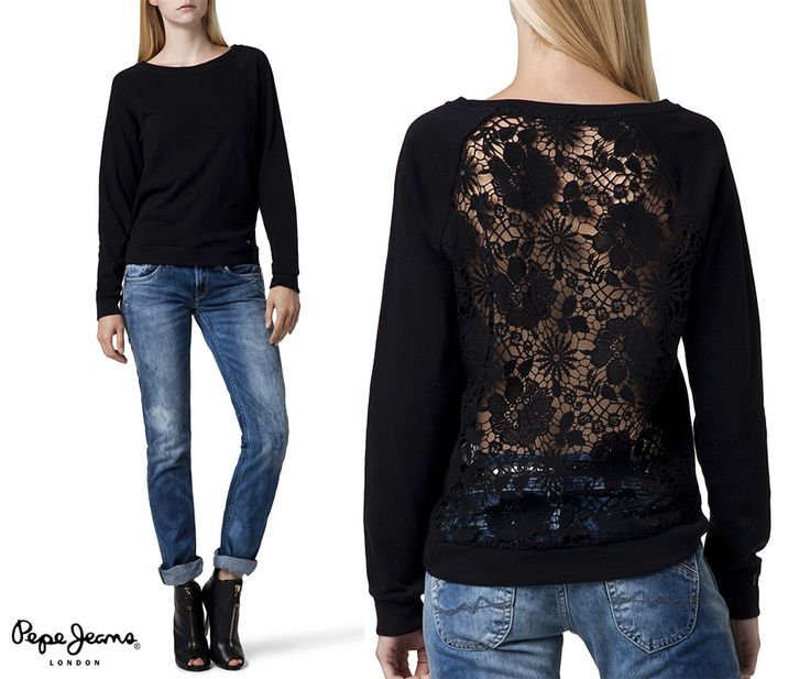#jeansstore #jeansstorecom #newcollection #sweatshirt #blouse #pepejeans #black #pepejeanscollection