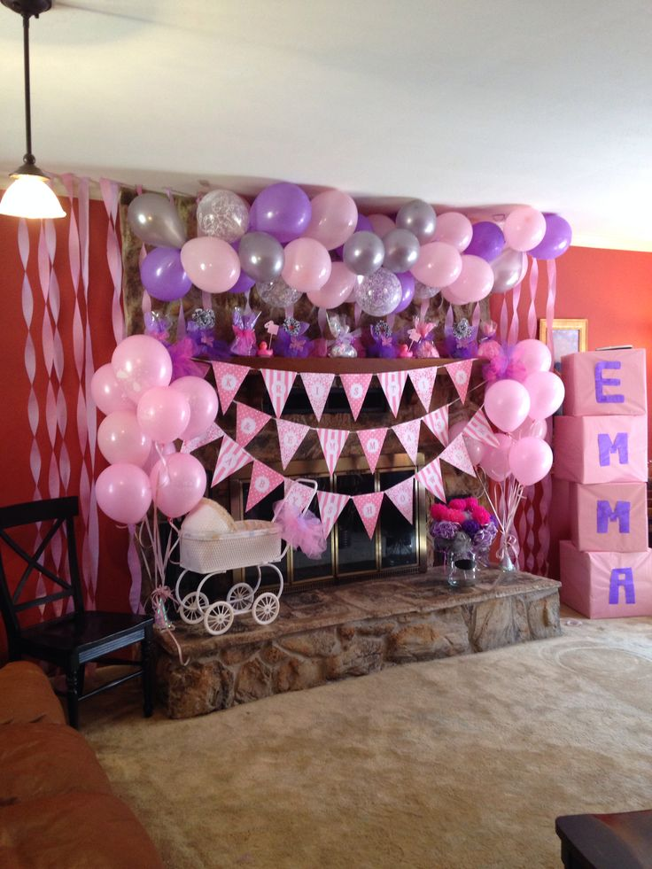 Pink And Purple Baby Shower Moms Pinterest