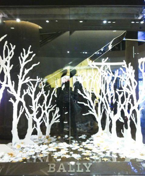 cutouts of white trees, love