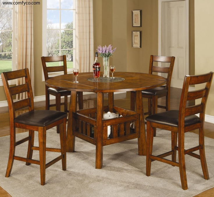 Appreciate The Practical Design Features Integrated Into This Beautiful Distressed Oak Counter Height Minale Dining Set That Seats Four