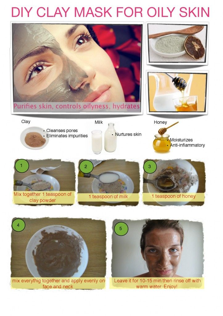 DIY Clay mask for oily skin