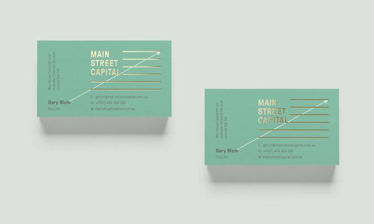 Main St. Capital business card #iconika #PeopleFriendlyBrands
