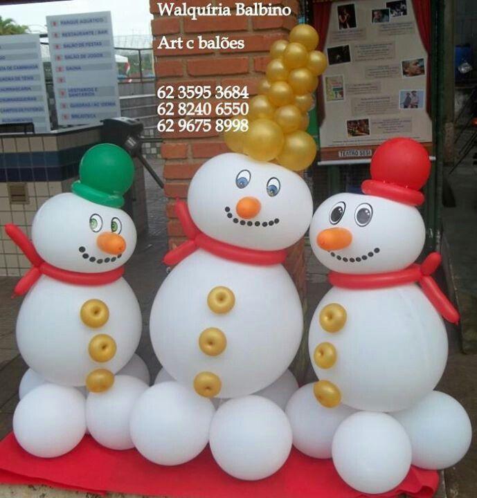 M s de 1000 ideas sobre globos de nieve en pinterest - Decoracion de navidad con globos ...