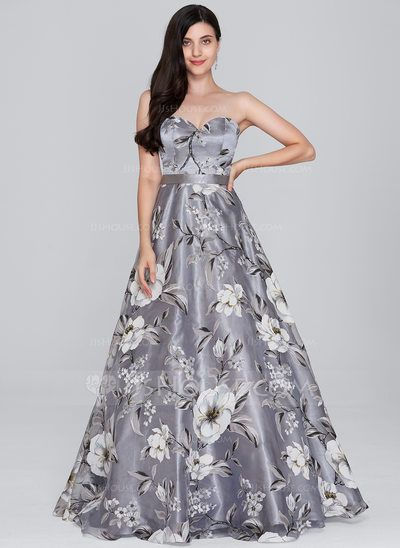 fd6b05f91ca1d [US$ 159.99] A-Line/Princess Sweetheart Floor-Length Organza Prom Dress  (018138852)